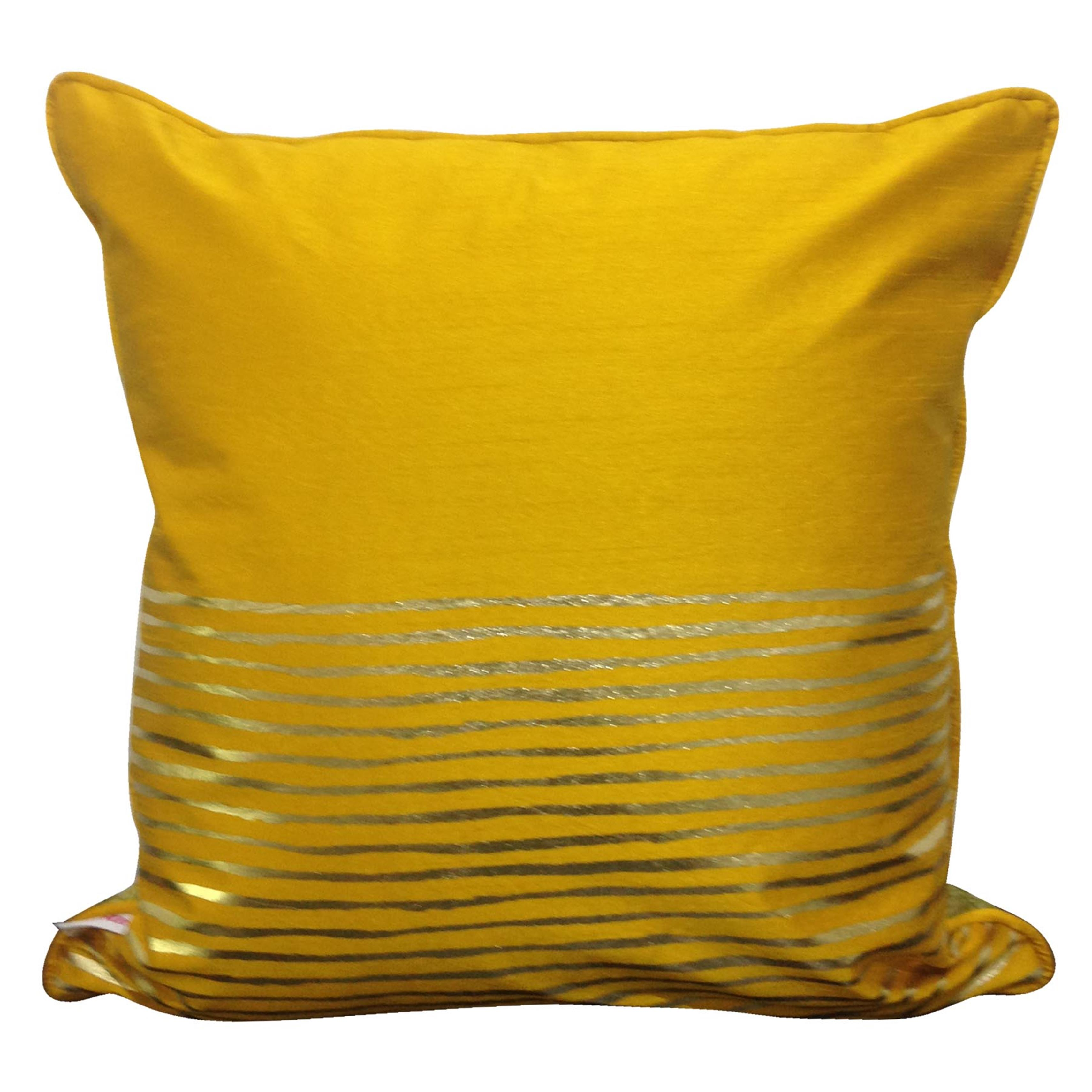 Double Sided Olive Gold Motif Cushion Cover