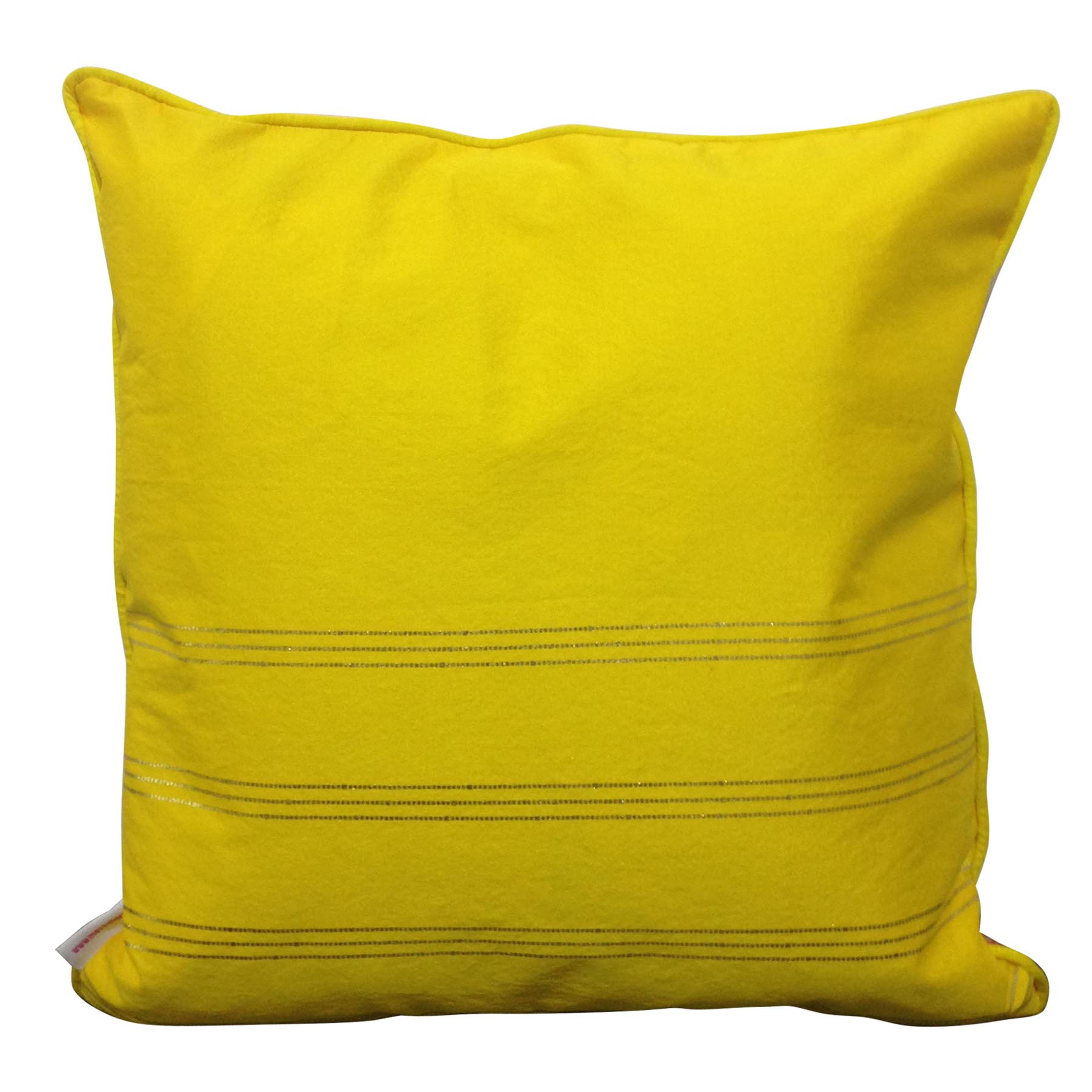 Double Sided Orange Gold Buti Cushion Cover
