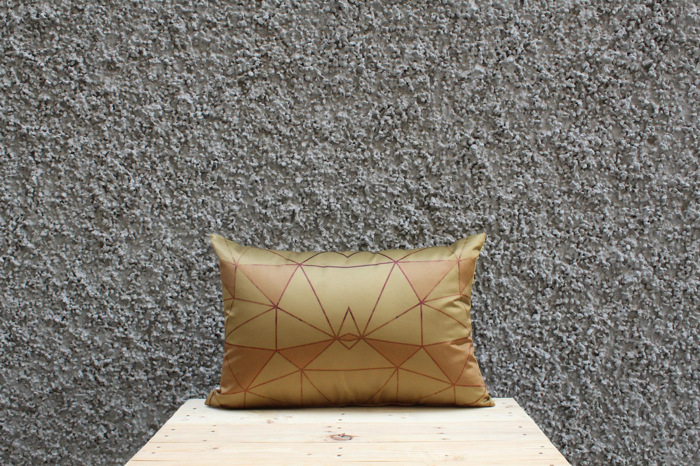 Brown Lotus Cushion Cover