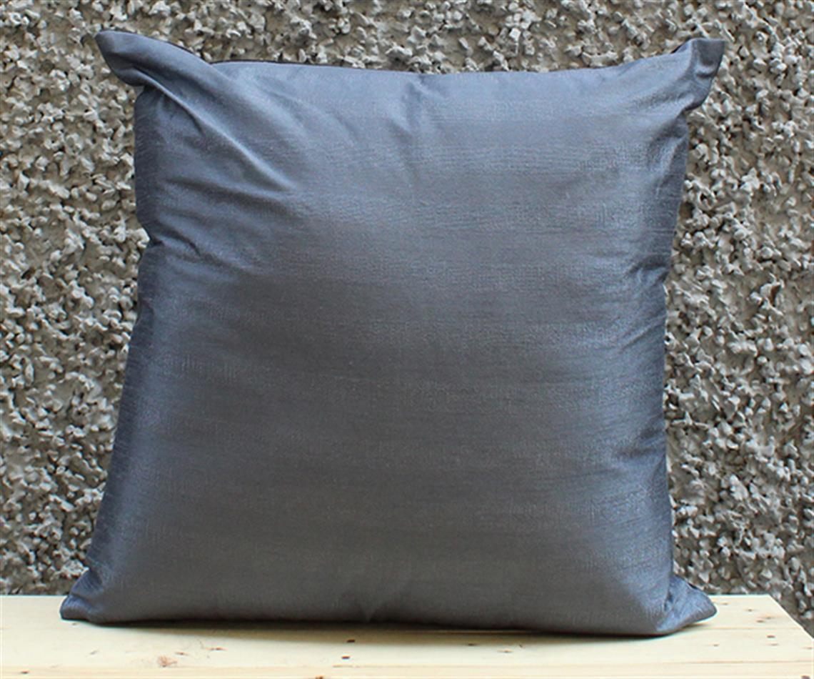 Black and Grey Solid Cushion Cover