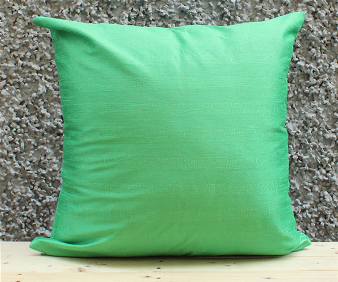 Blue Green Solid Cushion Cover
