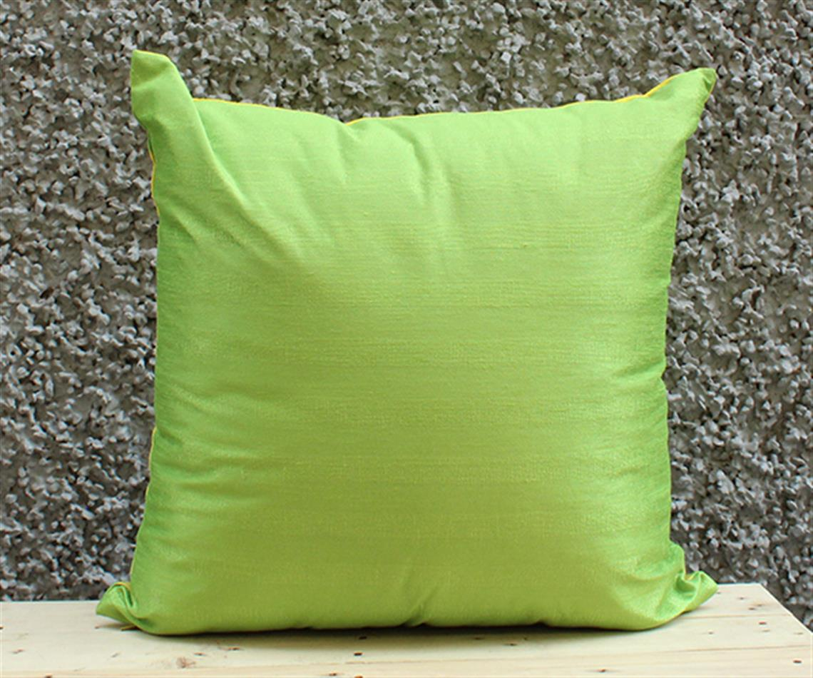 Yellow and Lime Stripe Cushion Cover