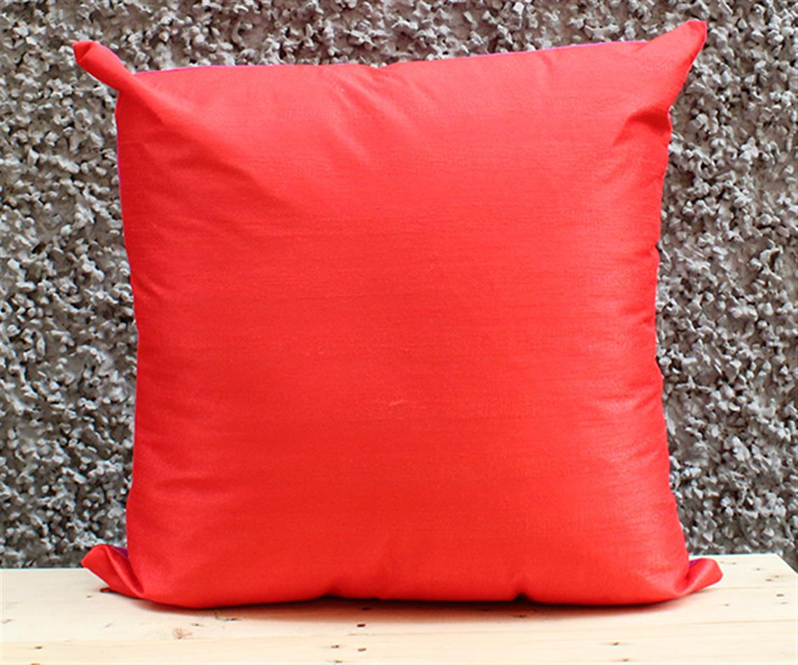 Pink and Red Solid Cushion Cover
