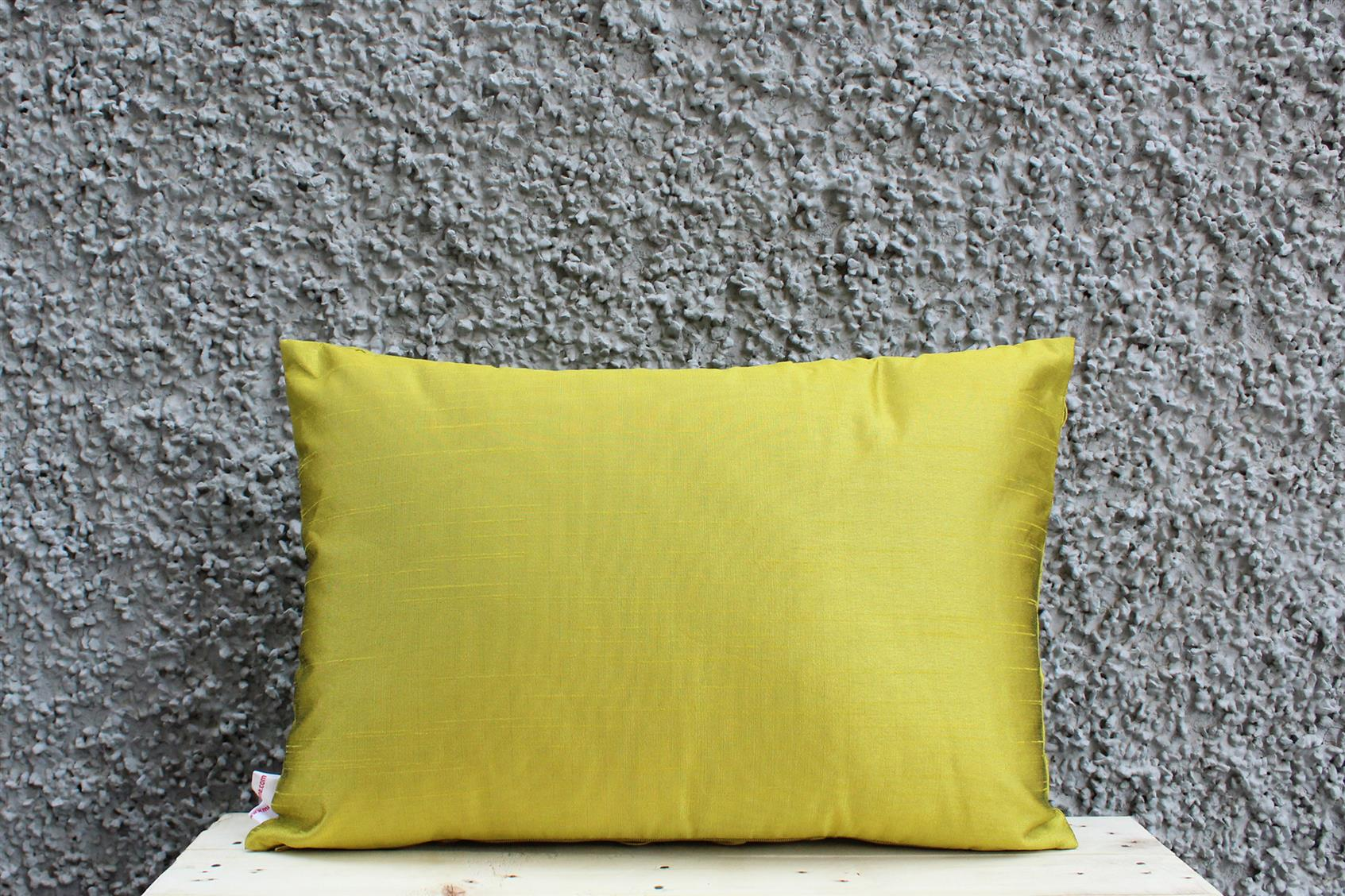 Olive Tassel Cushion Cover