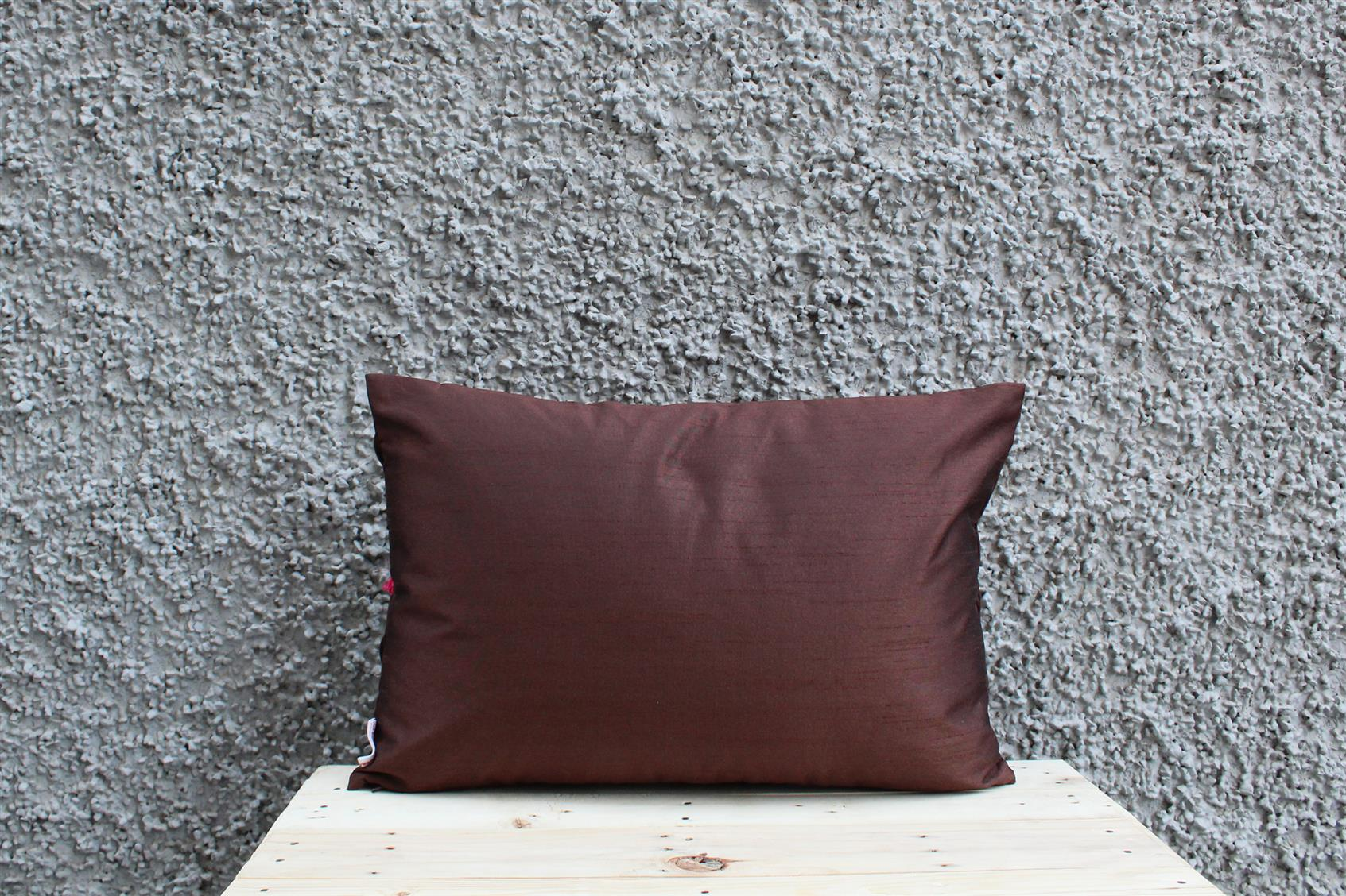 Brown Tassel Cushion Cover
