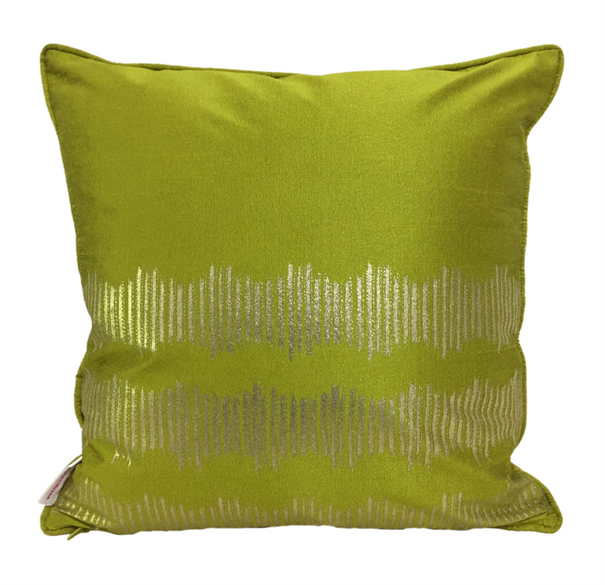 Double Sided Mustard Gold Lotus Cushion Cover
