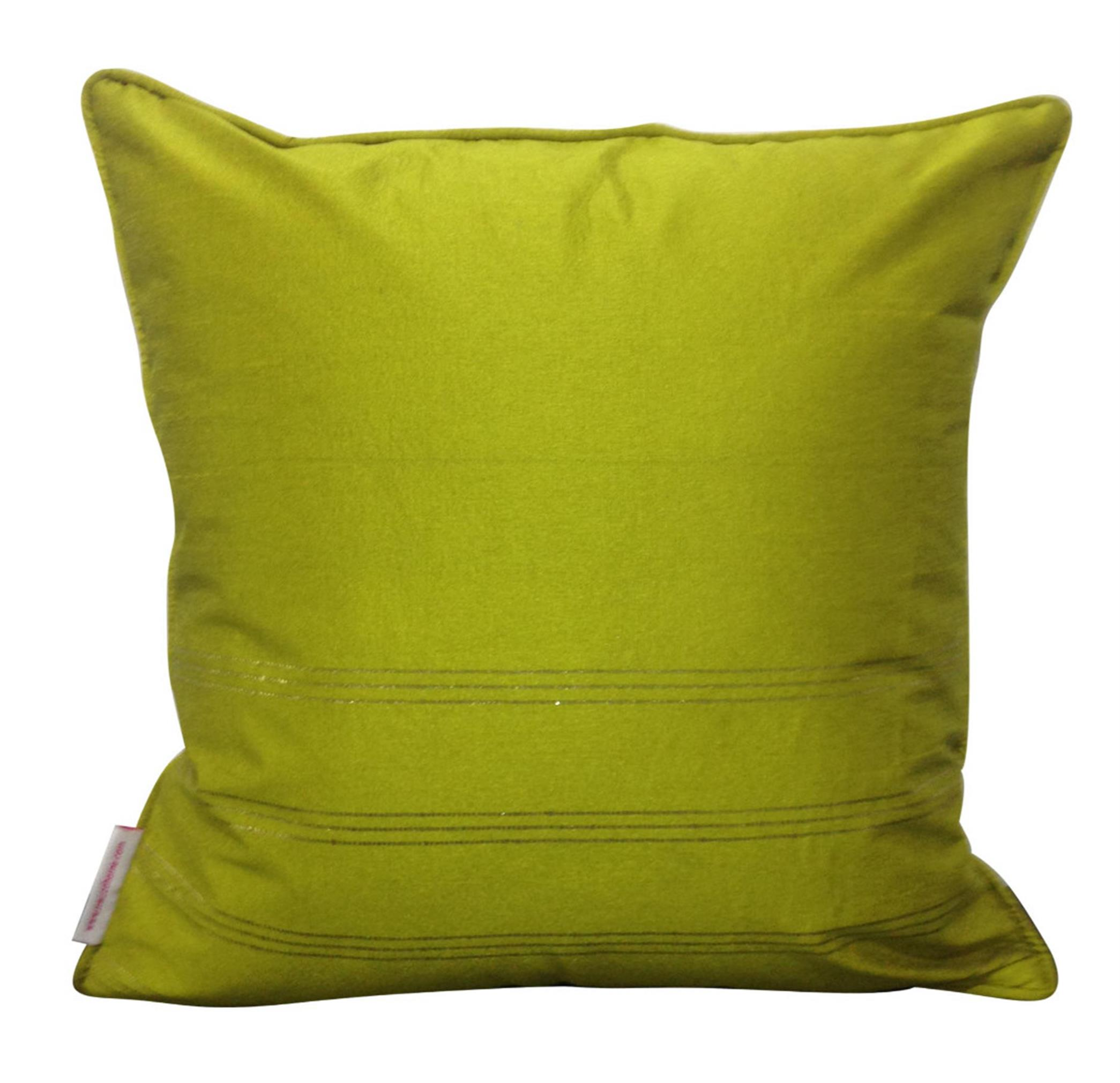 Double Sided Mustard Gold Buti Cushion Cover