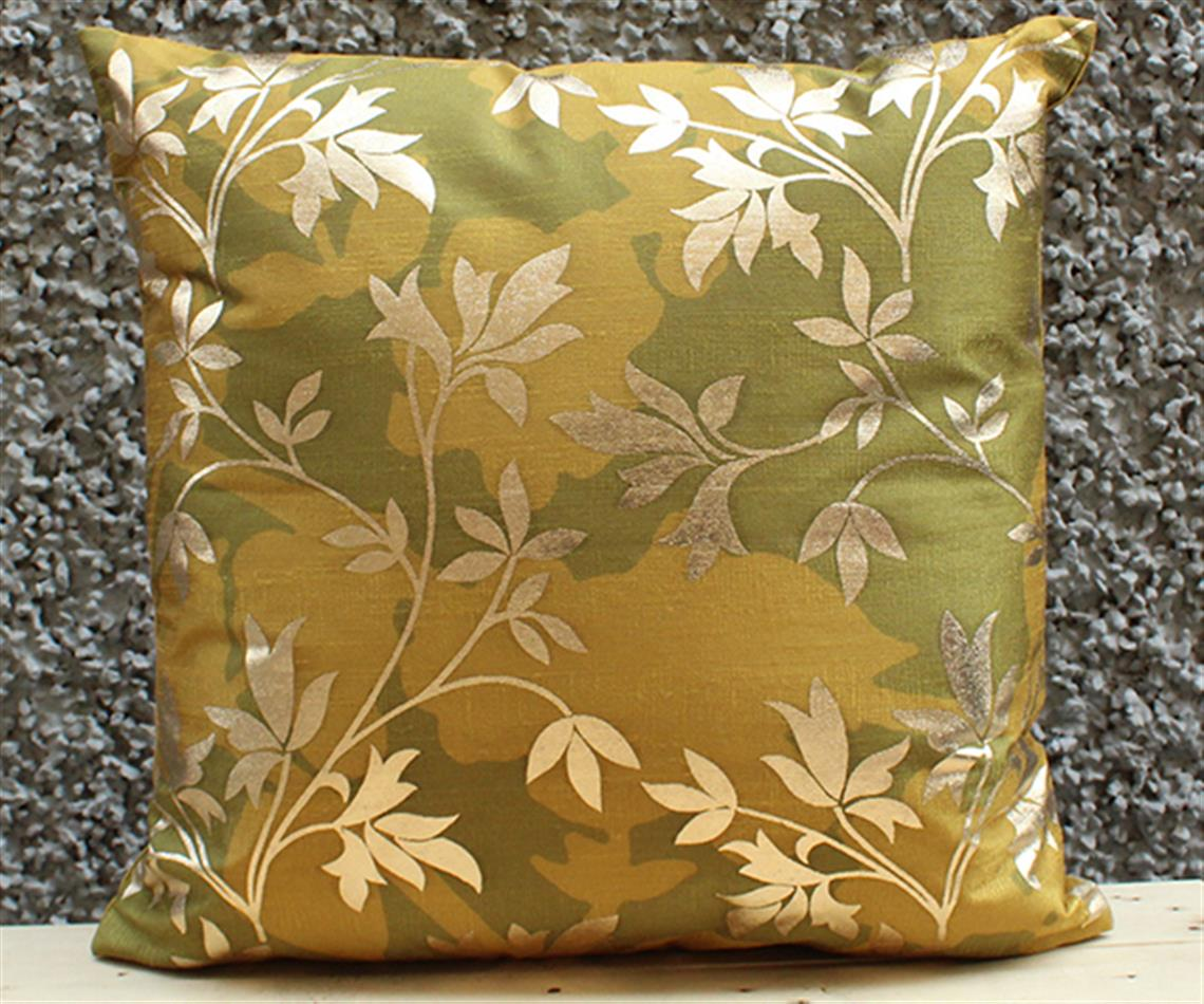 Olive Floral Cushion Cover