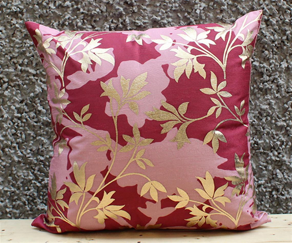 Burgandy Floral Cushion Cover