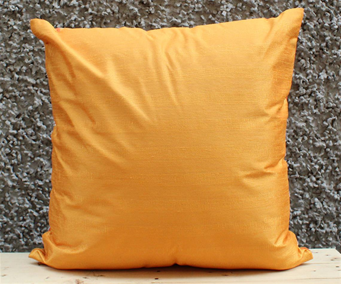 Orange and Sunshine Solid Cushion Cover