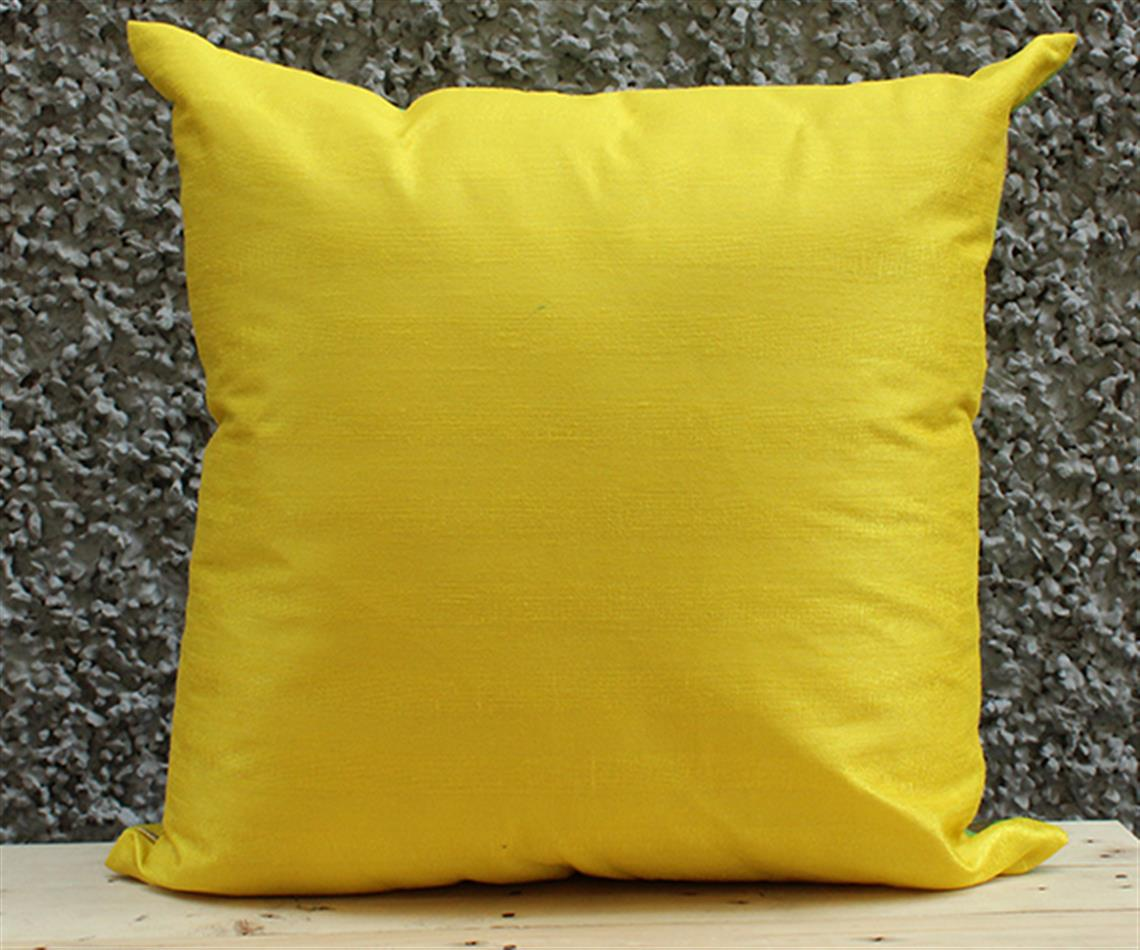 Yellow and Lime Solid Cushion Cover