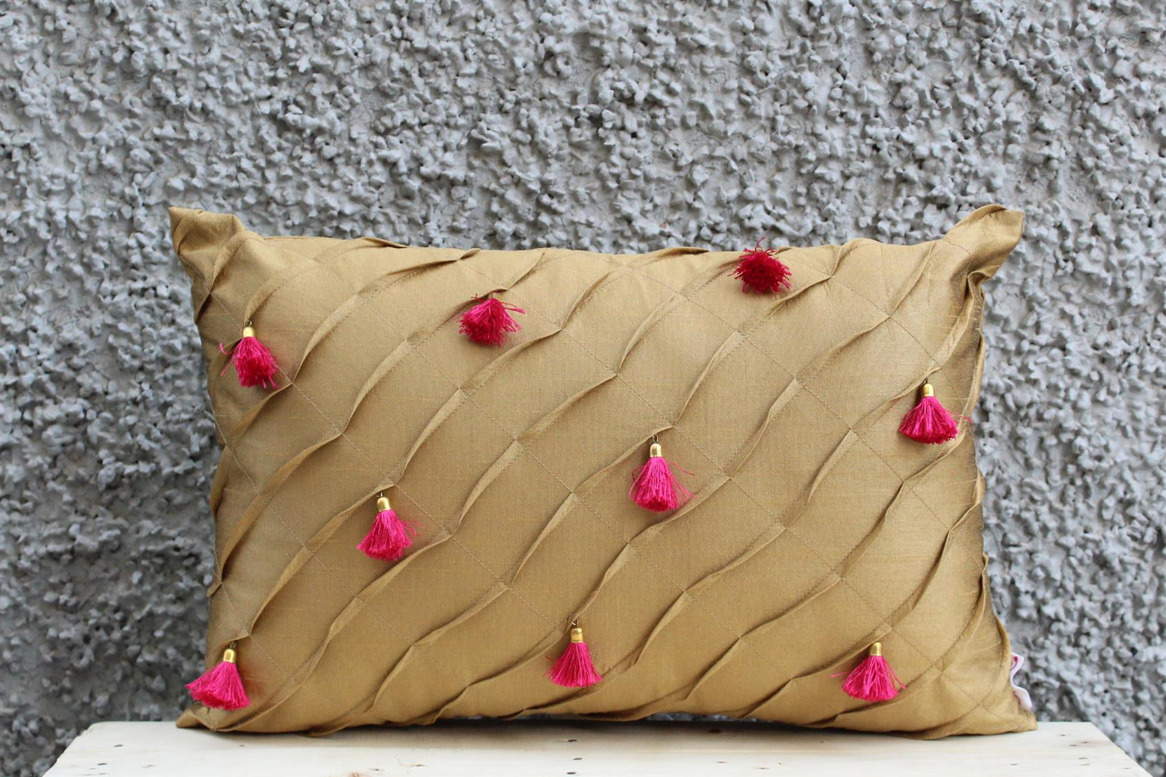 Caramel Tassel Cushion Cover