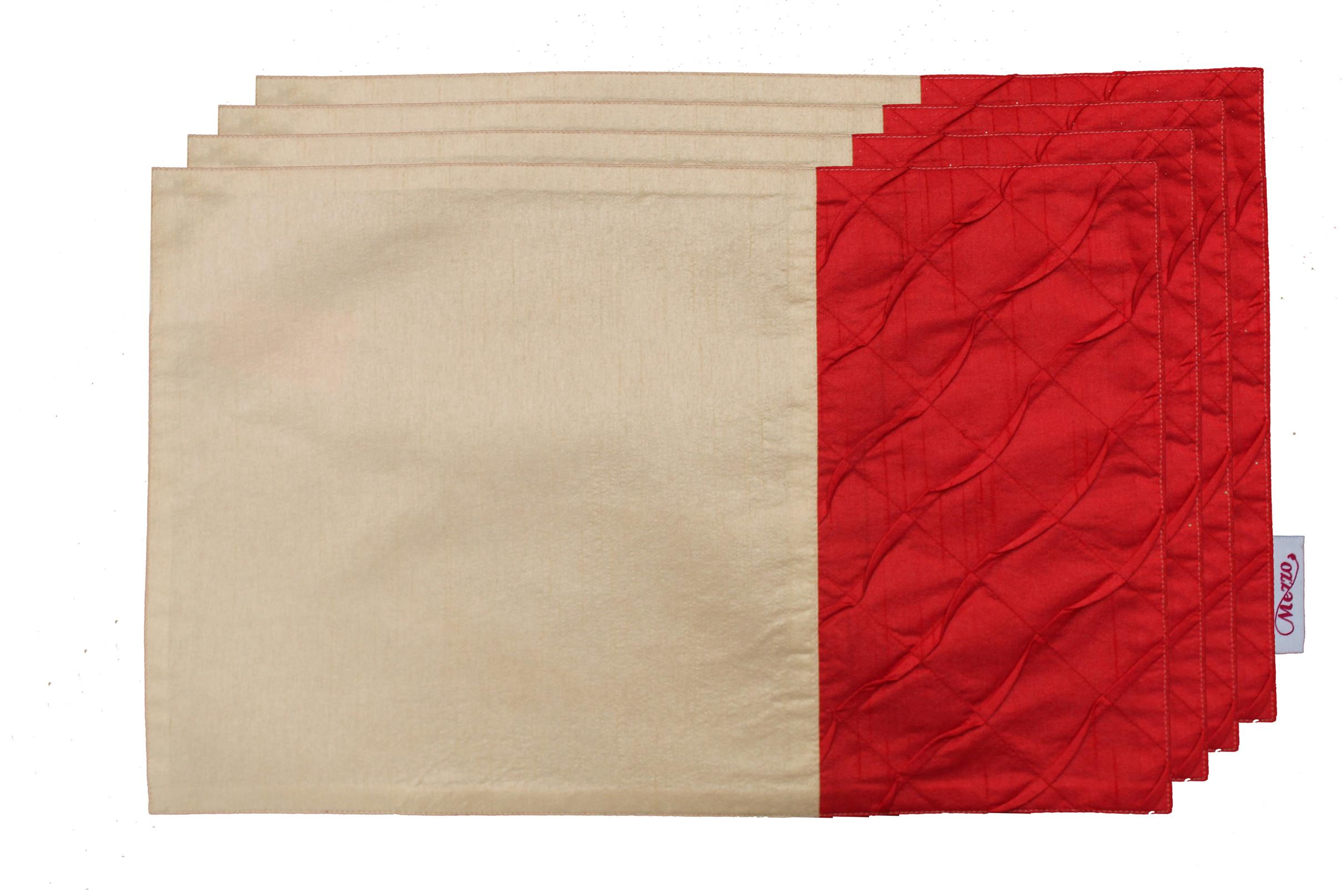 Red Pleated Placemat