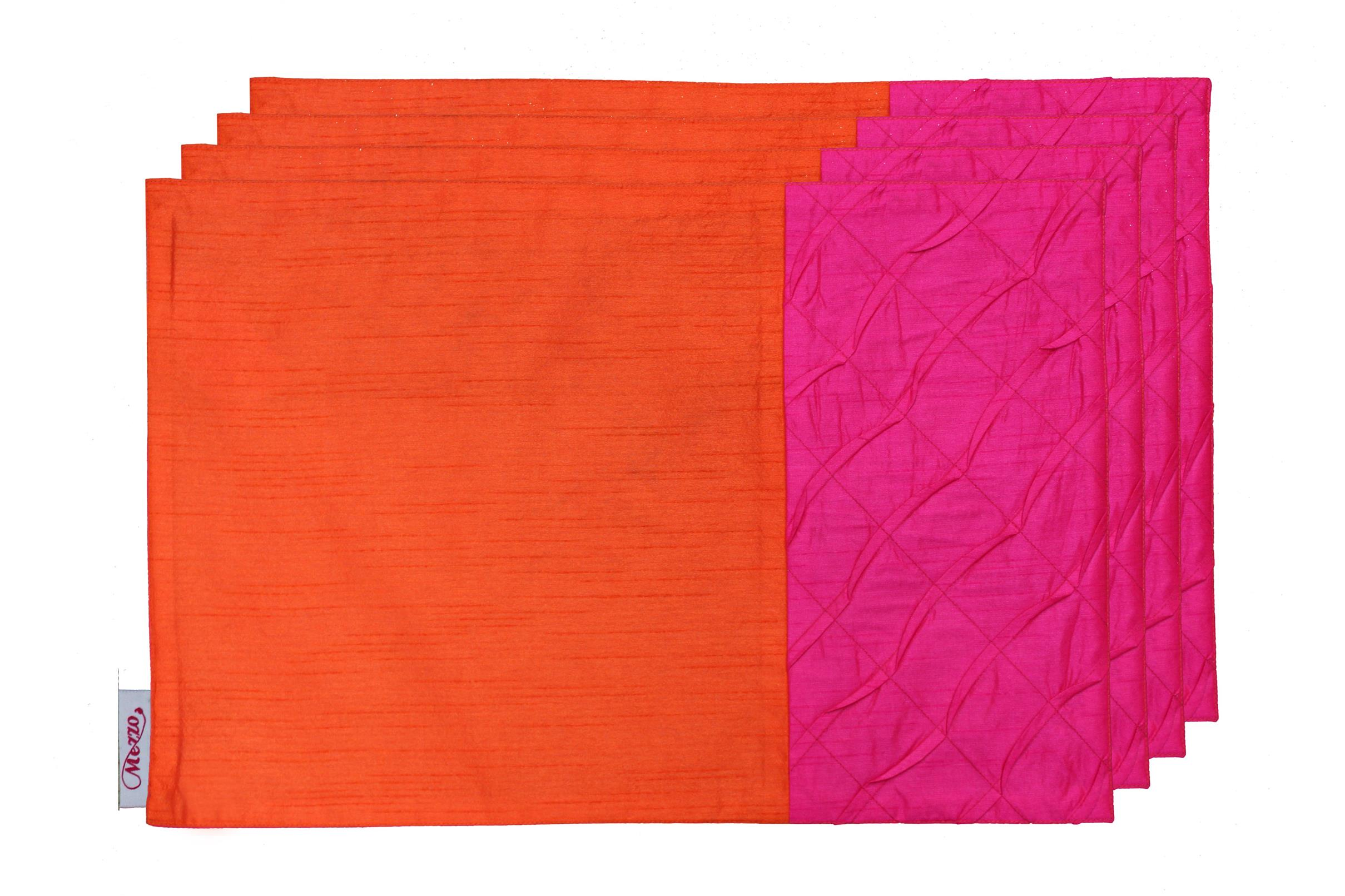 Pink Pleated Placemat