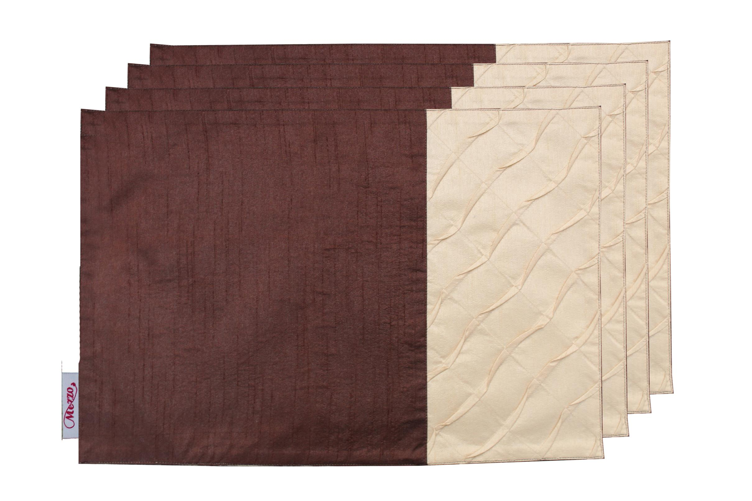 Beige Pleated Placemat