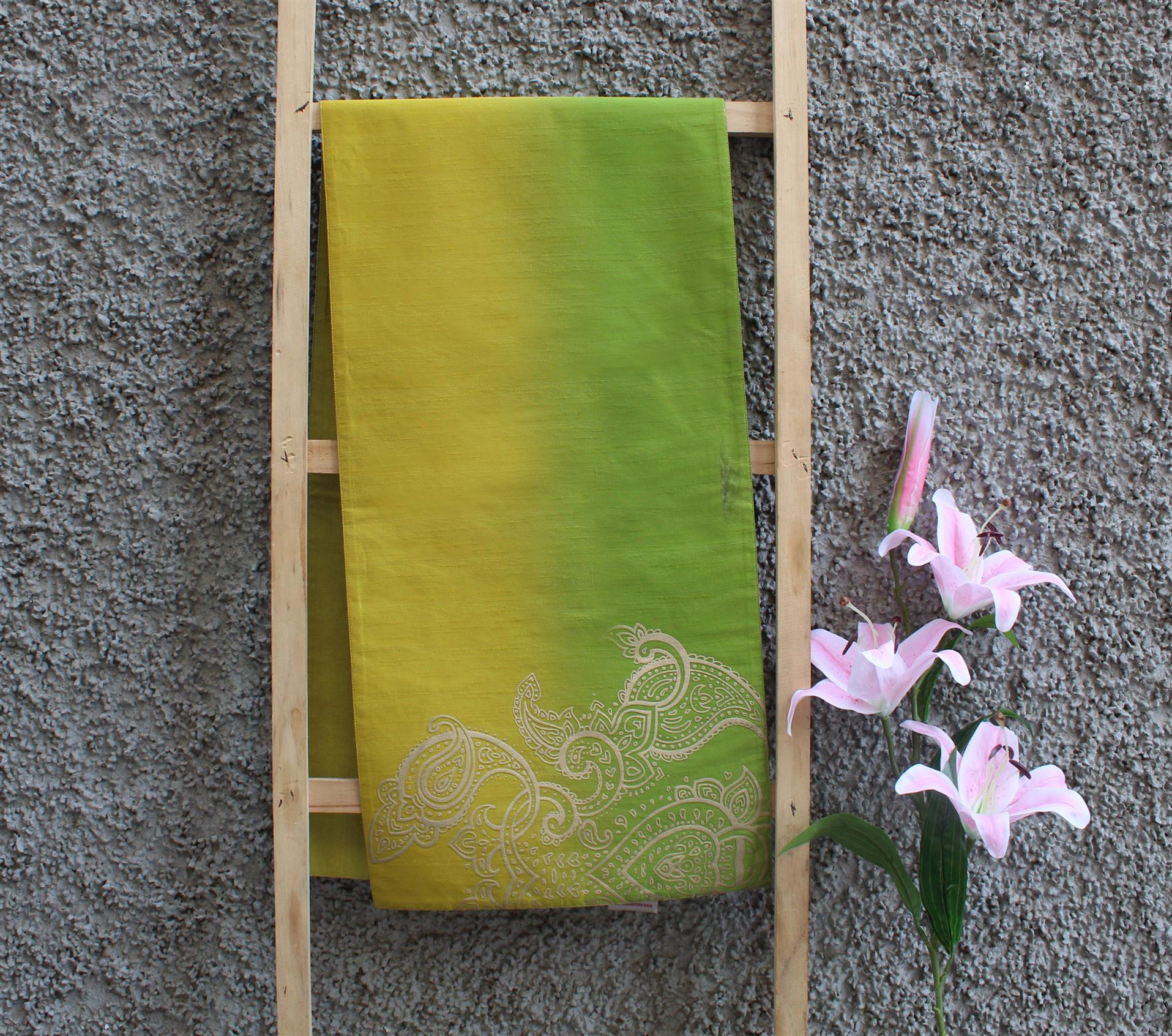 Lime Yellow Ombre Runner