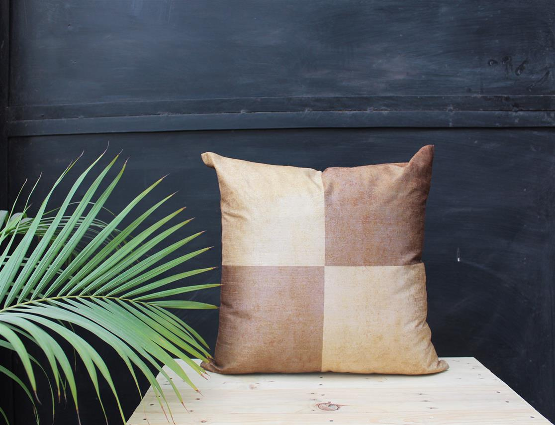 Brown Square Cushion Cover