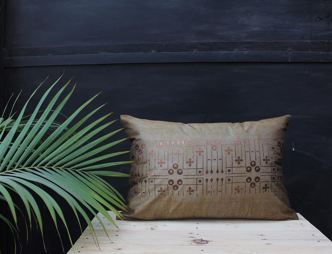 Rectangle Lines and Dots cushion cover