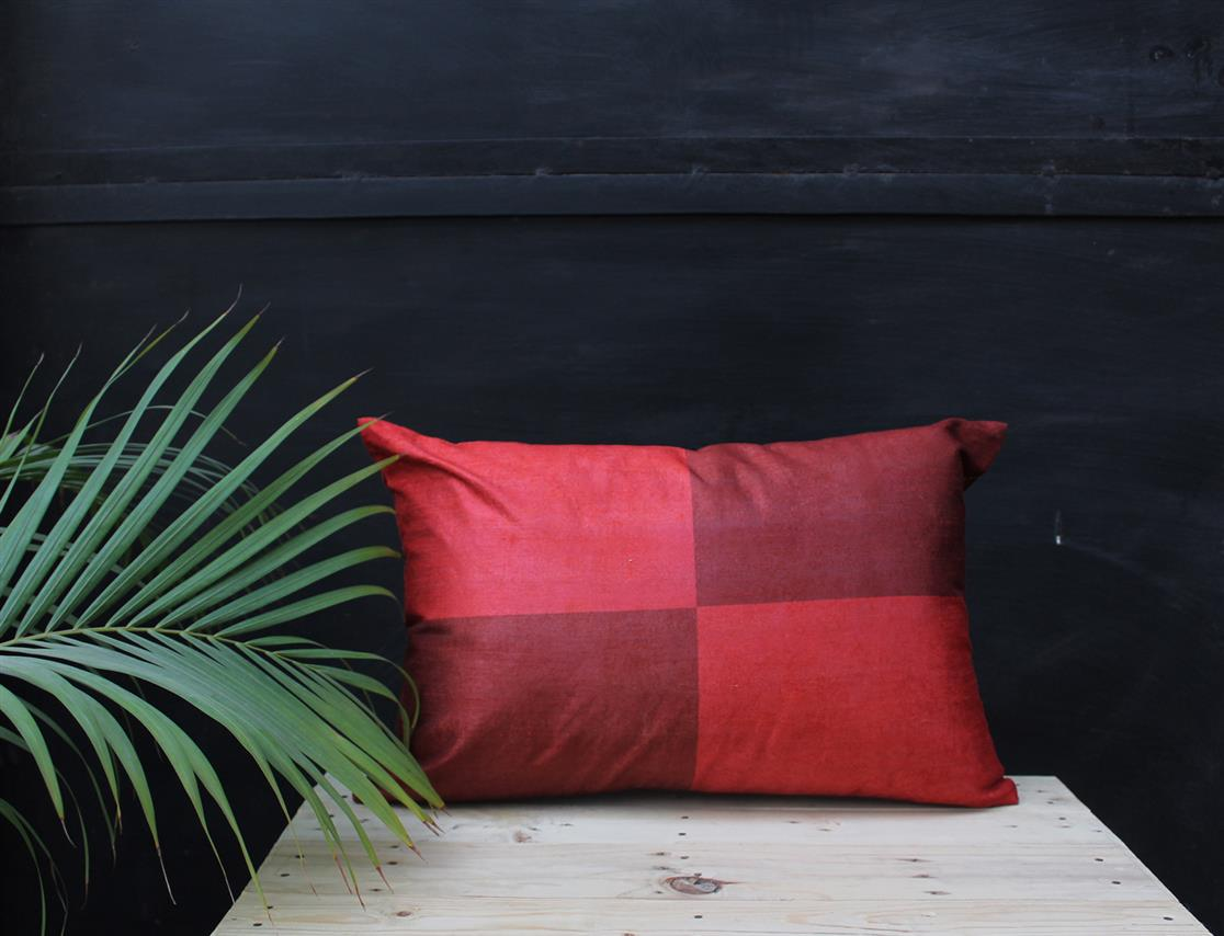 Rectangle Grid Cushion Cover