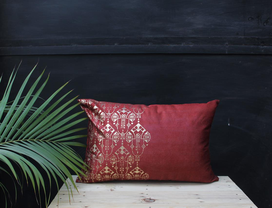 Rectangle Damask Cushion Cover