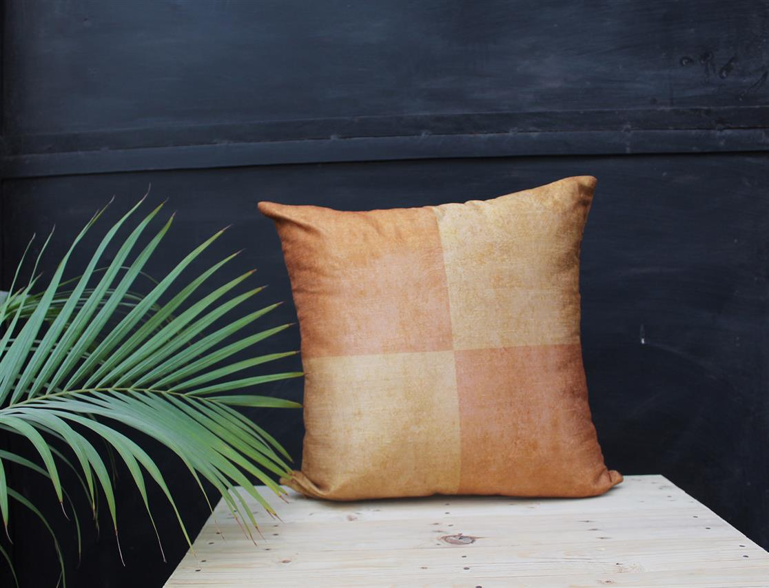 Rust Square Cushion Cover