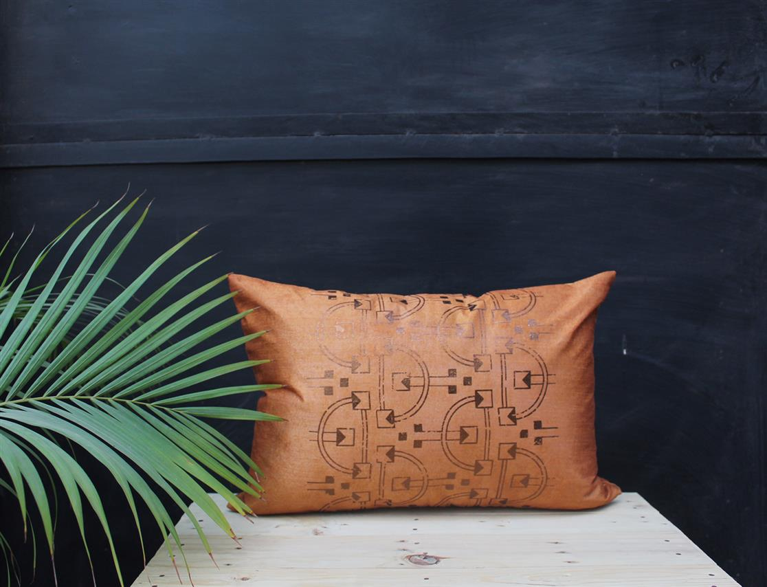 Rectangle scale cushion cover